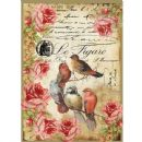 Stamperia - Rice Paper Sheet A4 - Le Figaro Birds